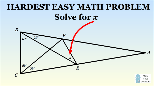 The Hardest Easy Geometry Problem – Sunday Puzzle – Mind