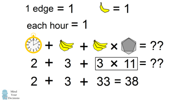 The Bananas, Clock, Hexagon Viral Logic Puzzle – Mind Your