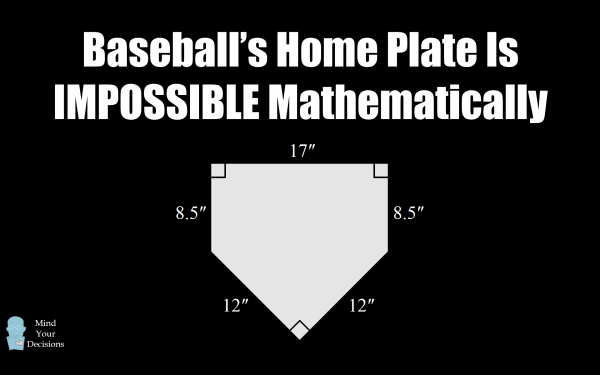 Baseball S Home Plate Is Impossible Mathematically Mind Your Decisions