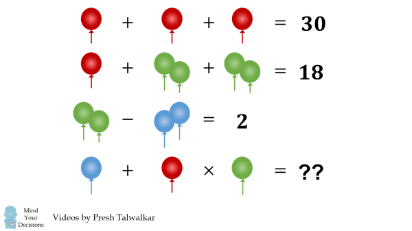 Balloon Algebra Puzzle The Correct Answer Explained Mind Your