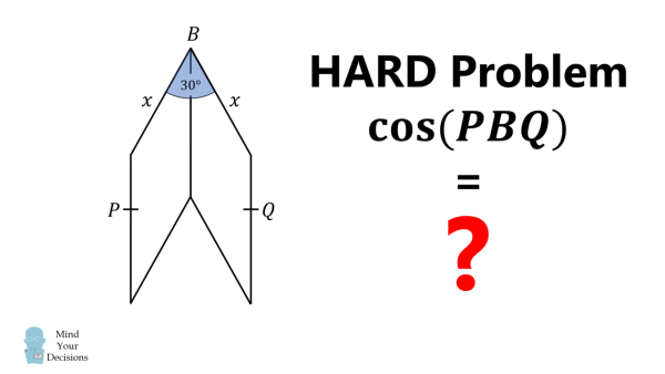 One Of The Hardest GCSE Test Questions – How To Solve The Cosine