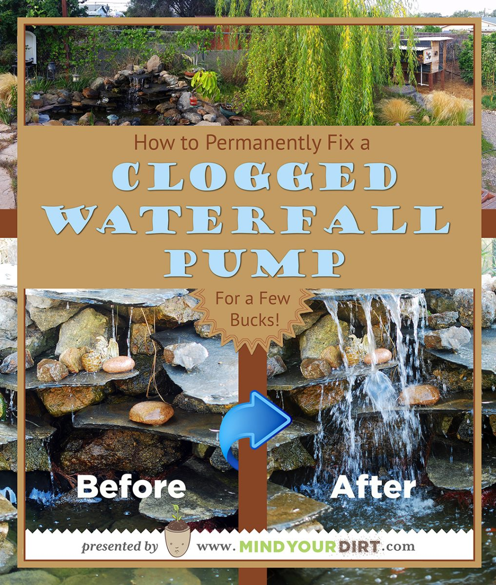 The @#&*+$% Waterfall Pump is Clogged Again!