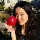 Thanksgiving 2015_08_Nury with Giant Pomegranate