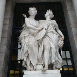 Mexico City Courier Trip 27_Palace of Fine Arts facade sculpture