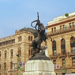 Mexico City Courier Trip 28_Palace of Fine Arts exterior sculpture