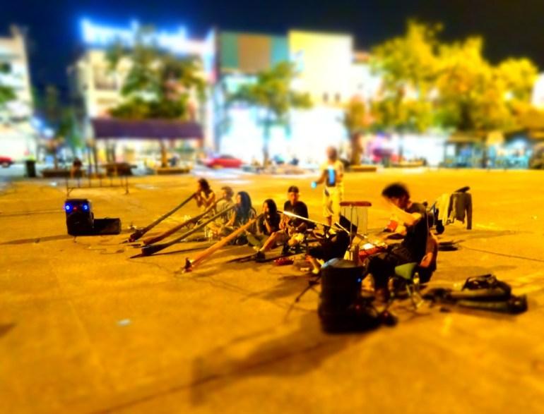 Didgeridoo Musiker in Chiang Mai
