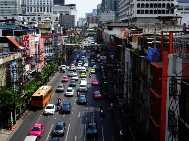 Volle Straßen in Bangkok