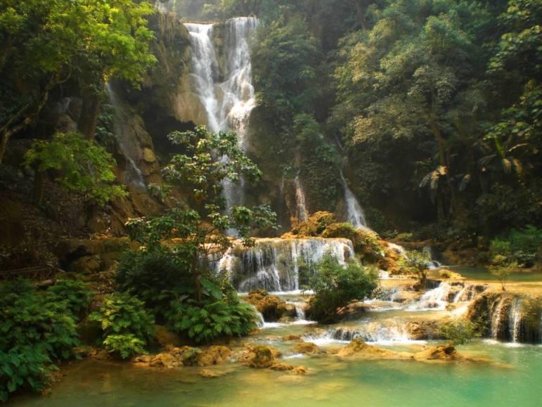 Kuang Si Wasserfälle 1