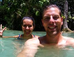 Kuang Si Wasserfälle Selfie