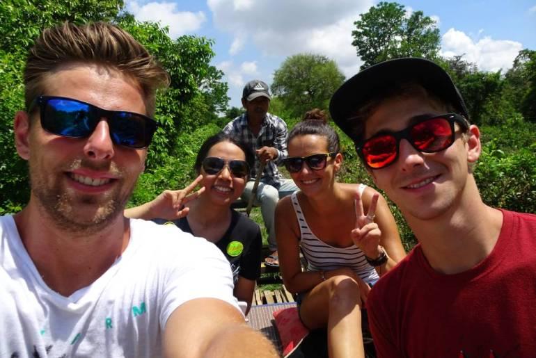 Bamboo Train Battambang Selfie