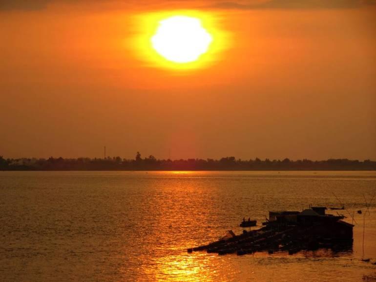 Sonnenuntergang Pakse