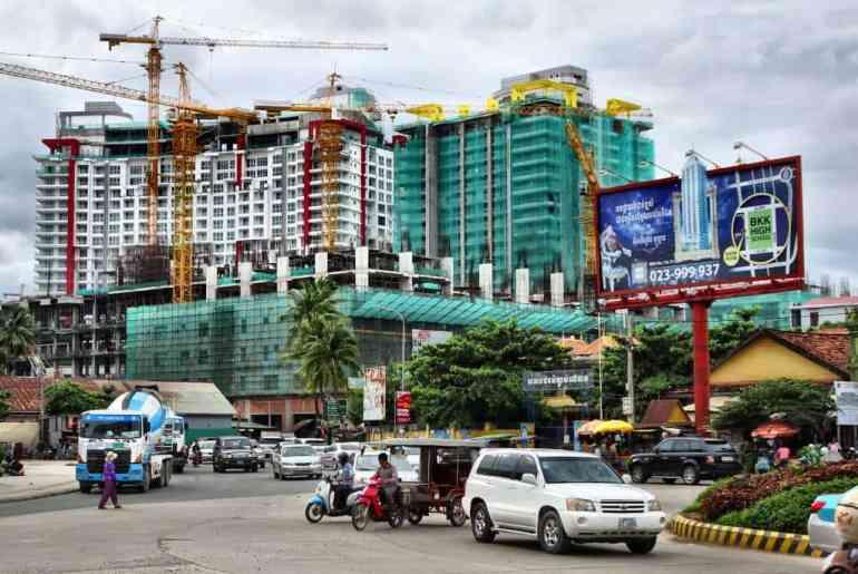 Baustellen in Phnom Penh