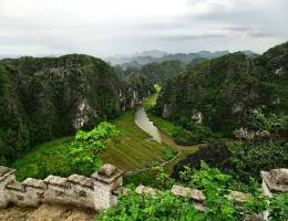 Aussicht vom Hang Mua Berg Tam Coc