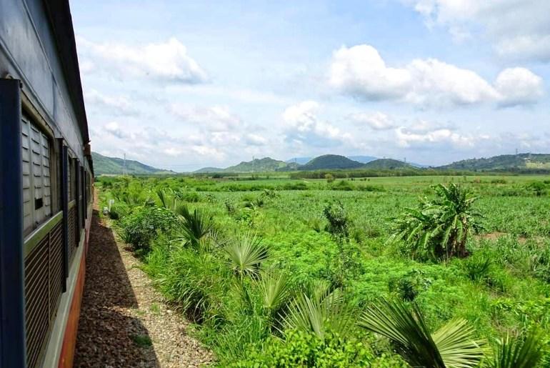 Aussicht Zugfahrt Saigon Mui Ne