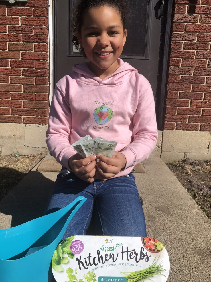 Mindy-Jean and her indoor gardening kit