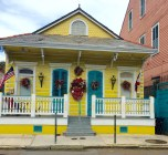 Colorful house in French Quarter