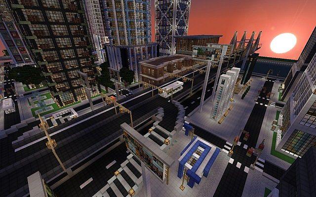 Map Ville Moderne New Crafton Minecraft