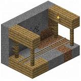 Как сделать заброшенную шахту в Minecraft