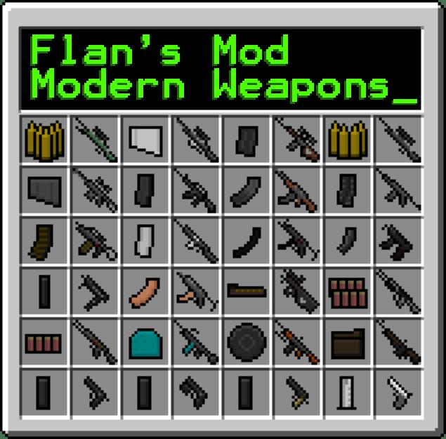 Minecraft Mod Moderne Waffen Mod Pack Für Minecraft Benötigt - Minecraft waffen spiele