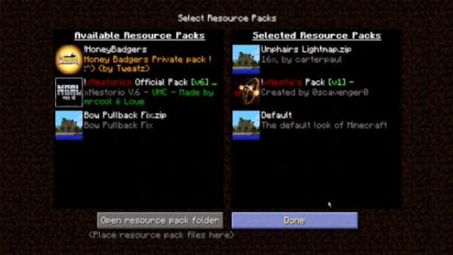 xNestorio UHC Resource Pack: Installing