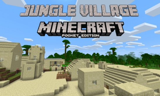 Cool Jungle Village Minecraft PE Seed 0131 Minecraft Seeds