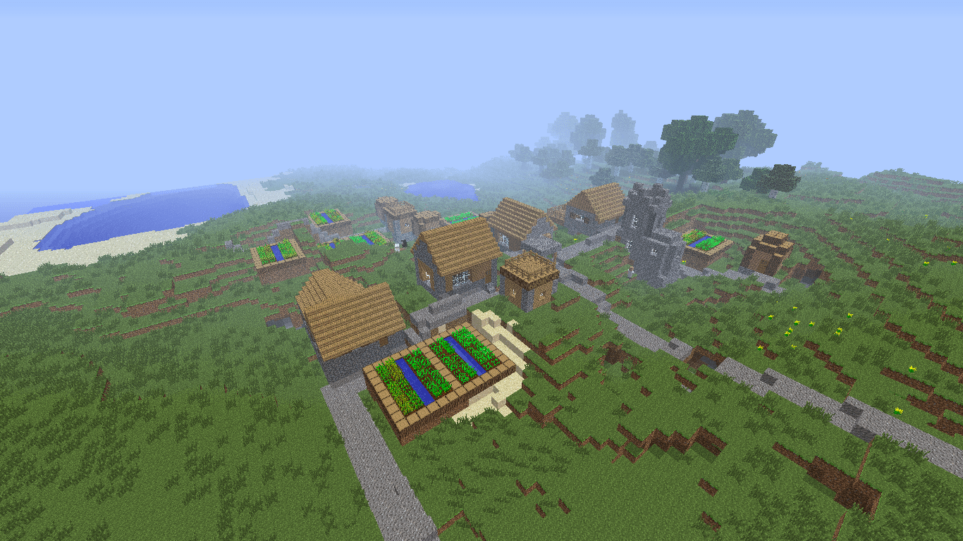 StongholdRavinesDouble Npc Village And Mineshafts