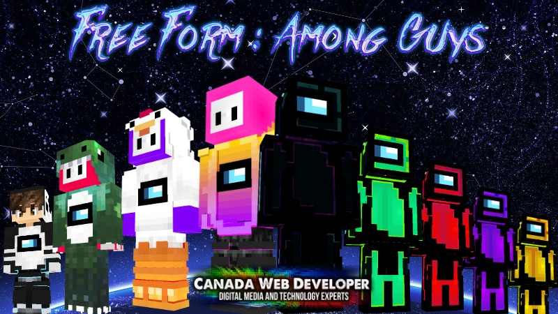 Free Form: Space Among US is the perfect skin pack to show off to your friends and have fun being different from others! 33 HD (128px) skins including: - 2 free! - 8 space aliens - 7 characters with bright colors - 6 space crew members - 5 engineers - 5 A.I. robots 2 Exclusive skins by: Dannny0117 and ACPixel Created and Published by: Dannny0117 + Canada Web Developer. Open up the Marketplace on your Minecrafting device and download.