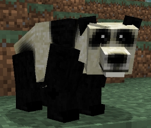 Un panda del mod Mo'Creatures
