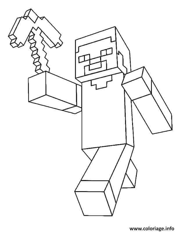 Dessin Et Coloriage Minecraft Minecraft Fr