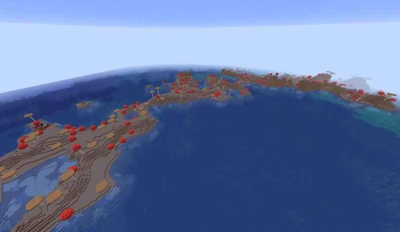 semilla de minecraft 1.16 isla de hongos