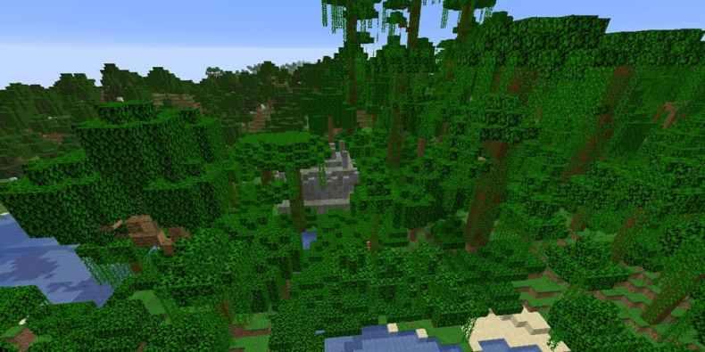 semilla de minecraft 1.16 jungla y templo