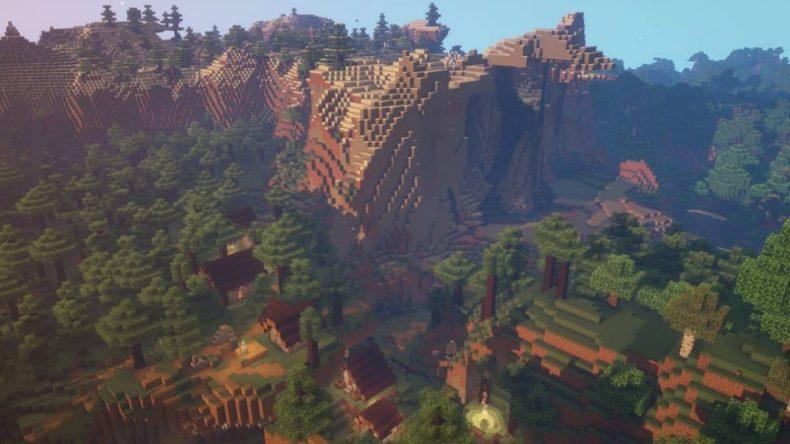 semilla de minecraft 1.16 bosque de aldea perdida