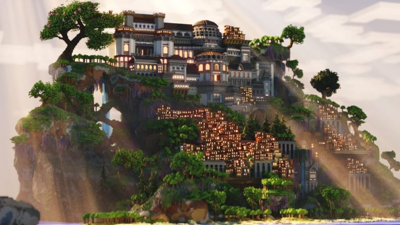 Una descripción general de la mansión y el barrio pobre.