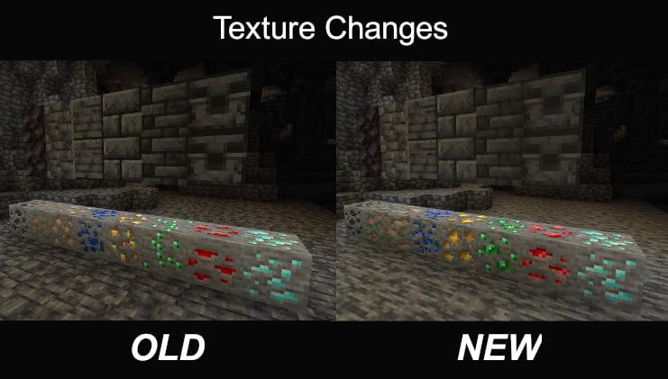 Nueva comparación de texturas de Minecraft