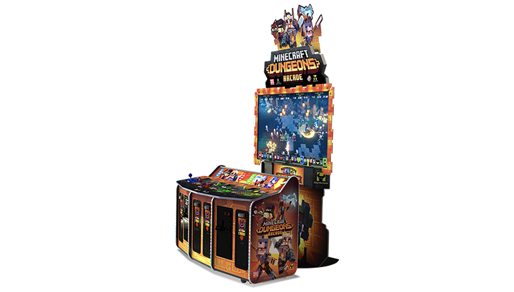 Máquina arcade de Minecraft Dungeons