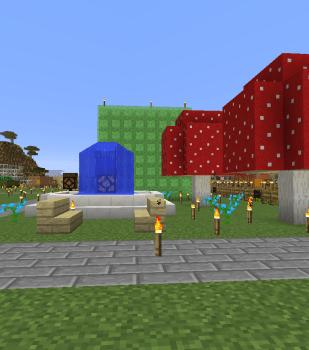 巨大キノコの公園作りました