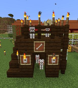犬(オオカミ)小屋作りました