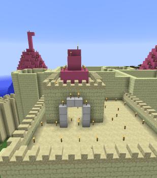 お城がだいぶできてきました