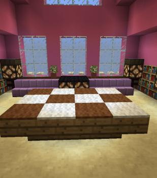 大広間の上の屋根裏部屋を作る