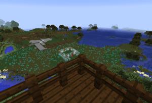 屋上からの湿地