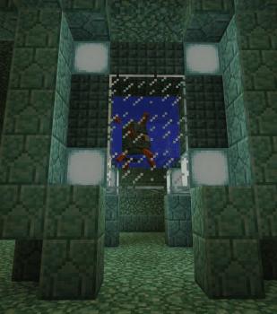 海底別荘の内部に着手しました