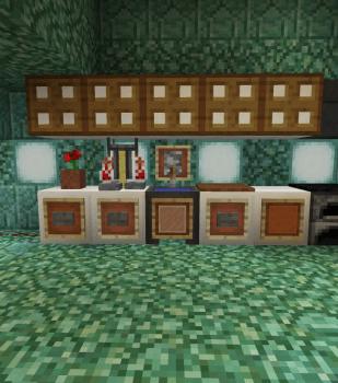 海底別荘のキッチン(今回も飛び出します)