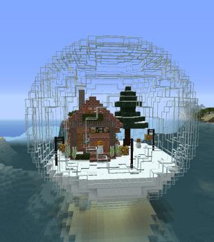 スノウゴーレムの住むスノードーム作りました