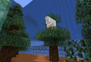 木の上の羊