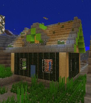 遺跡から町に変更してまた家を生やしてみた