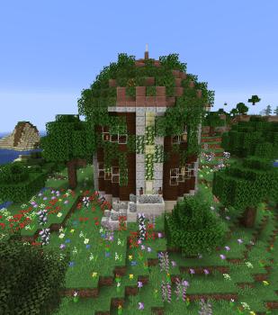 1.14スナップショットで花の森に家を建ててみた