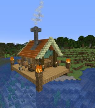 1.14スナップショットで釣り小屋建ててみた