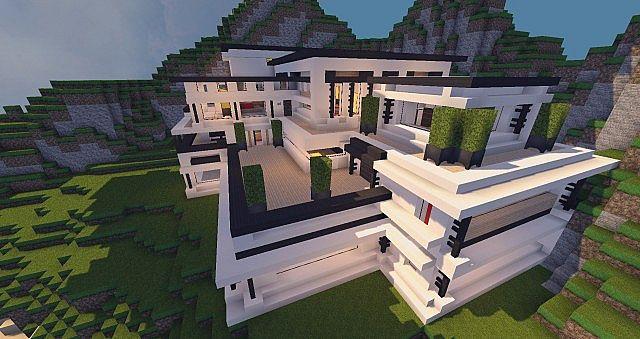 Modern Mansion Cliff Side Escape Minecraft Building Inc