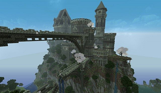 Ancient Castle Ruins Minecraft Building Inc