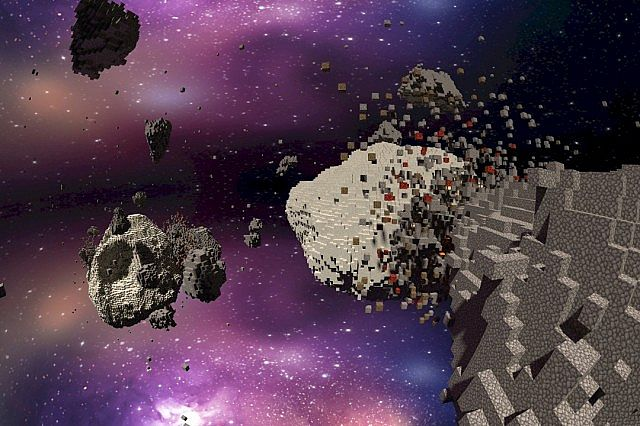 Asteroid Chaos Space Minecraft Building Inc